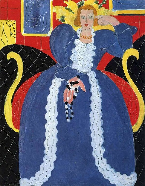 Lady in Blue, 1938, by Henri Matisse