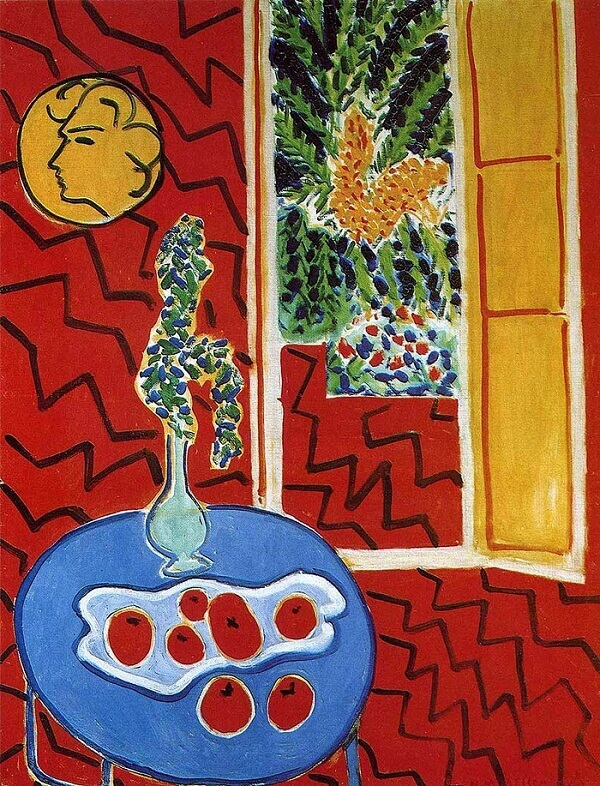 Red Interior, Still Life on a Blue Table, 1947 by Henri Matisse