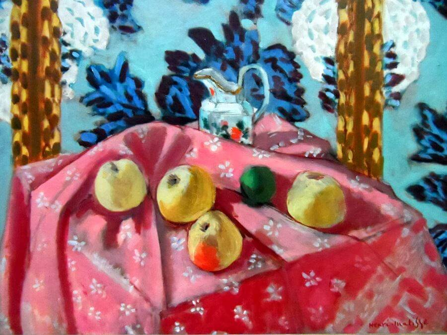 Still Life with Apples on Pink Cloth, 1925 by Henri Matisse